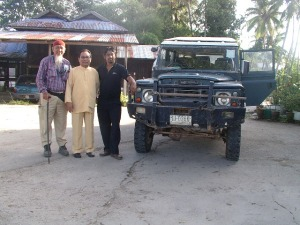 Land Rover pak Wahab dari Kulim Kedah Malaysia,  bernomor Thailand