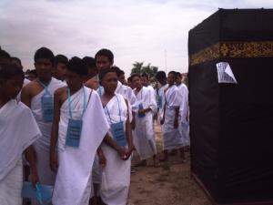 Mansik Haji anak-anak sekolah se-Batam dilapangan engku putri Kantor Walikota Batam