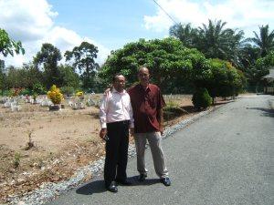 kubur Noordin M Top di Kampung Melayu Pontian Johor Malaysia