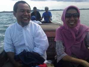 Naik Pompong ke Pulau Sembur kecmatan Galang