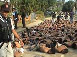 Ratusan mereka Sahid  tertumpuk tumpuk di Tak Bai