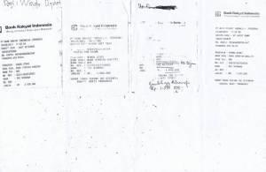 bukti rekening yang dikirim ke toko nirwana elektronik fiktif
