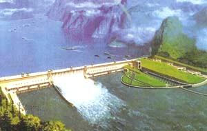 Tiga Ngarai reservoir besar Dam benar-benar akan terlihat dari bulan!
