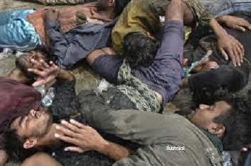 Polisi hari senin (4/6/2012) mengatakan bahwa para warga buddha di