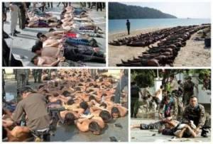 Foto foto  ini juga banyak beredar di internet mereka mengaitkan peristiwa pembantaian ummat Islam Rohingya di Myanmar. Tetapi sebenarnya gambar - gambar ini adalah merupakan kejadian yang berlaku di Selatan Thailand - Wilayah Patani. Peristiwa ini terjadi pada bulan Oktober 2004 dimana Tentera Thailand  membunuhi ratusan warga Muslim Patani di Takbai yang mengakibatkan sekurang kurangnya 85 orang terbunuh, 60 cedera, dan 59 lainnya dipenjarakan. Peristiwa ini terjadi pada saat umat Muslim Patani sedang berpuasa Ramadhan. Dan terkenal dengan Peristiwa Takbai.