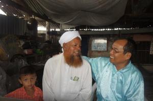 bersama Imam Masjid asal Rohingya Myanmar